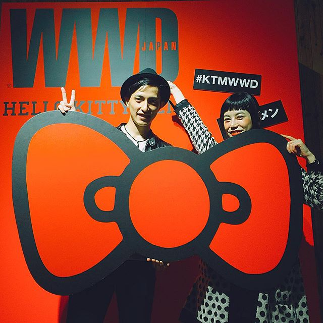HELLO KITTY MENのweb CMで相手役だった平川くんと @kosuke810  #HELLOKITTYMEN #KTMWWD#WWD#HELLOKITTY#webCM