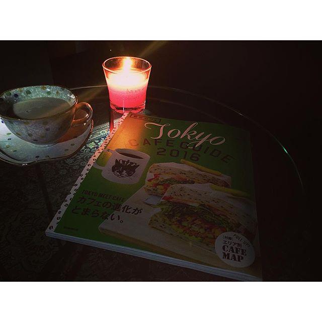 さっそく、グレード アロマキャンドルに癒されるTime...️♡♡...#glade_spur_glam #gladecandle #candle #home#book#tea