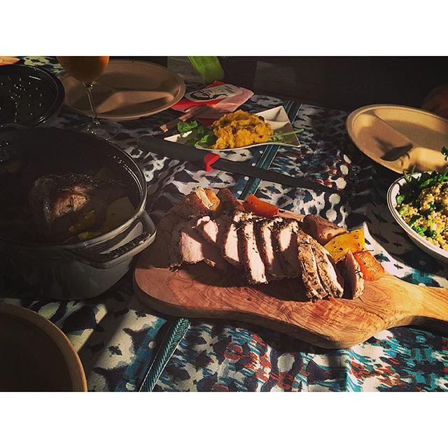 ストウブで作るご飯は、お肉も柔らかくてジューシーだし、野菜も甘くて本当に美味しいなぁ♡...#ellegirlcamp#グランピング#cooking#アクアヴィレッジ#ストウブ
