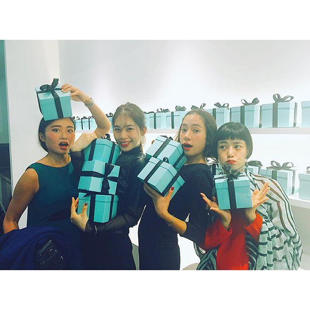 大好きなみんな♡♡♡@ellegirl_jp curators.#TIFFANYxDSM #TIFFANY#Party#ellegirl #curators#models#fashion