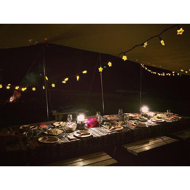みんなで作り上げた夕食...#ellegirlcamp #アクアヴィレッジ#伊豆#下田#料理