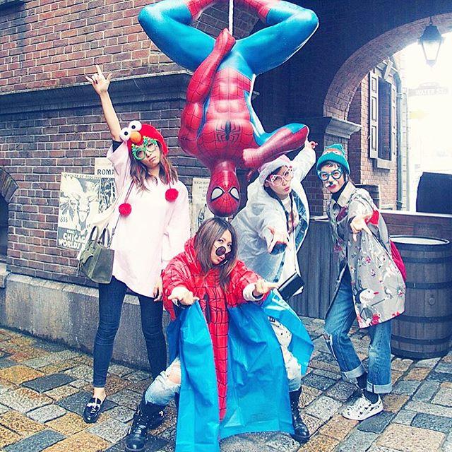 スパイダーマンズ😎😎😎😎😎...#USJ#大阪#スパイダーマン#happy#fashion