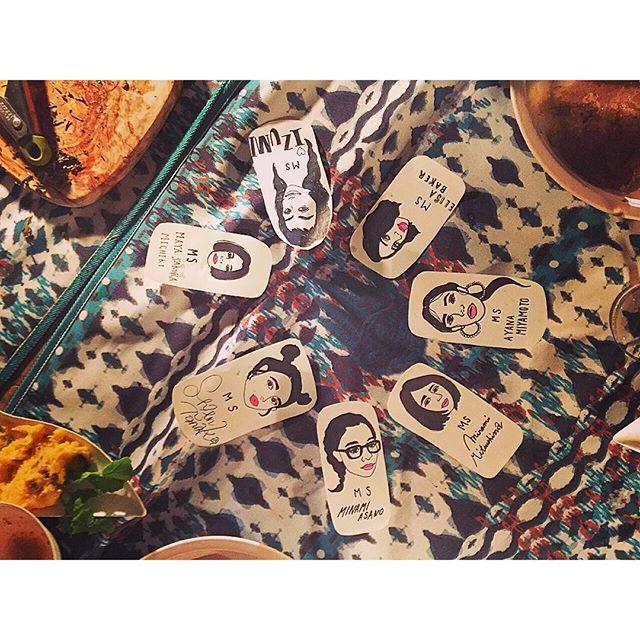 シェンちゃんが描いてくれたイラストがさすがすぎる...#ellegirlcamp#グランピング#アクアヴィレッジ #dinner