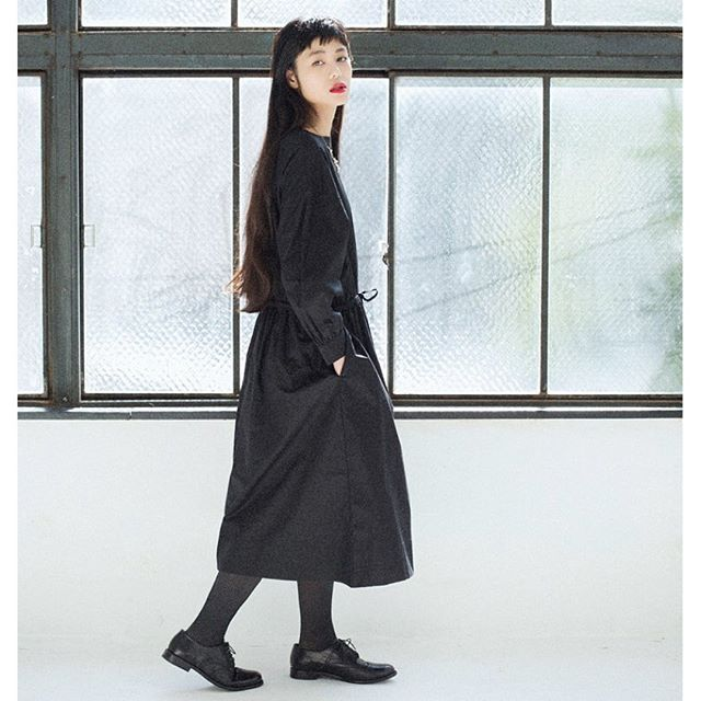 ALL BLACKに赤リップすき...#ナチュラン#リンネル#fashion#mode#ナチュラル#redlip#allblack #BLACK#fashion#coordinate