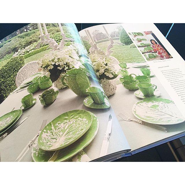自然のものからインスピレーションを受けてデザインをされるトリーバーチ氏。レタスの食器は圧巻だなぁ...@TORYBURCH#TORYBURCHSS16#インテリア