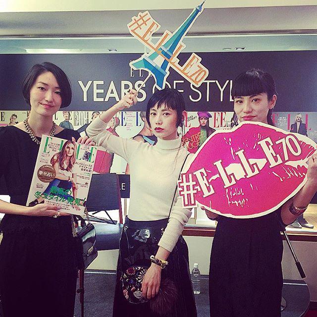 オシャレヘアを作られる、金子さん@kanekomayumi12 と、百富さん@yukarimomotomi と... #ELLE70#リトルブラックドレス渋谷#CHRISTMASAPERO