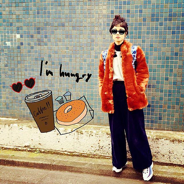 いつかのコーデ。#outer ... #ZARA #tops ... #ZARA#pants ... #ZARA#sneakers ... #NIKE#backpack ... #MARCBY...#IZUMIsfashion #fashion#winter #outfit #ootd#snap