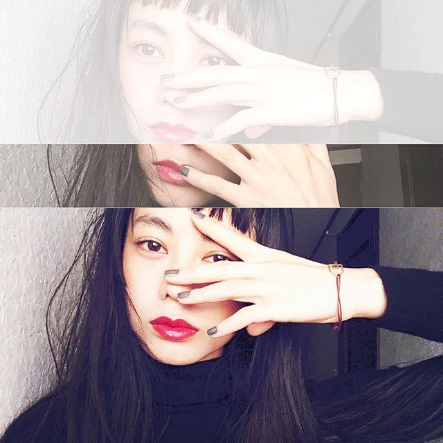 Nail と LipがX'mas color だった....#IZUMIsfashion#fashion#makeup#lip#hair#nail#dior#ysl#fashion#uniqlo#xmas