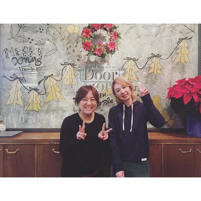 年内ラストに@door_daikanyama へ︎︎︎♡いつも希望通りのヘアにしてくれる吉村先生 @yu_ki.yoshimura と、偶然にも中学時代のバスケ部後輩ちゃんを担当していたカナコさん@kanako912 ♡まさか後輩にサロンで再会するとはテンション上がっちゃった〜〜〜繋がっていくね〜♡あ〜幸せな時間だった!...#door #daikanyama #salon#hair#love