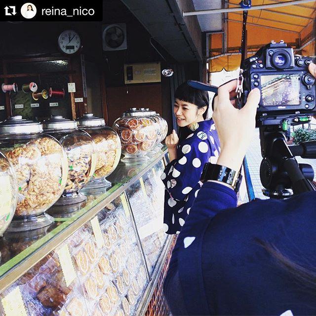 撮影中の写真を撮って下さってた #Repost @reina_nico with @repostapp.・・・ずっとお仕事したかった!存在感あるIZUMIちゃん♡#mimatsu
