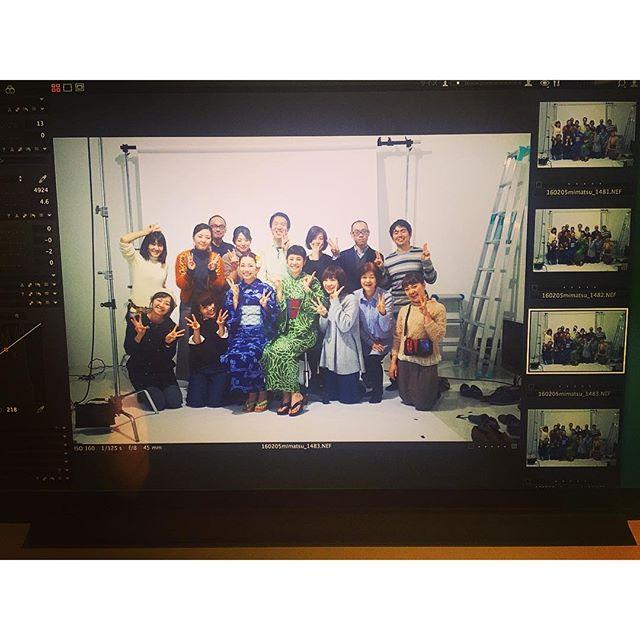 最高のチームで撮影を終えました!三松さんの浴衣が本当に可愛くて。カタログ撮影だったので、また完成したら是非見てもらいたいな!本当に幸せな一日。ありがとうございました!...#mimatsu#shooting#浴衣#三松