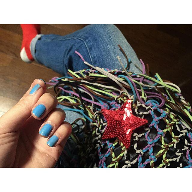今日もメイクは@mikaiwa 氏.♡水色のnailも可愛かった️...#IZUMIsfashion #ELLEgirl #online #shooting #nail#fashion