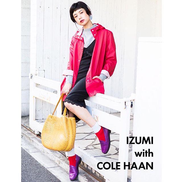 コールハーンのアイテムと、私服Mixでコーデを組んだよっ.️♡アイテムの詳細は@ellegirl_jp ....#コールハーン#私服#ellegirl #spring #color#coordinate#snap#fashion