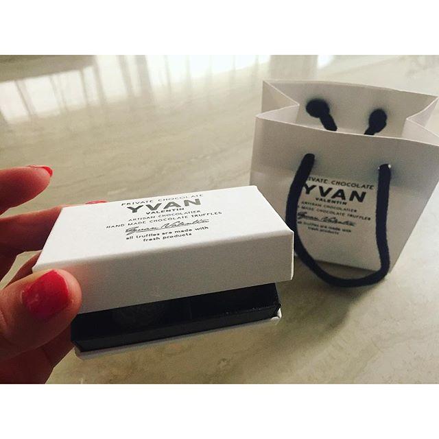 トリュフ.♡こりゃうみゃい!溶けた...#yvan #chocolate #happy #sweets #thankyou #gift #トリュフ #チョコレート