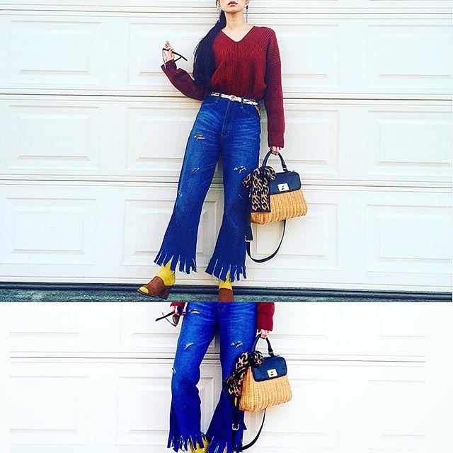 .♡...#IZUMIsfashion #ootd #outfit #fashion #denim#zara #katespadeny#WEAR更新