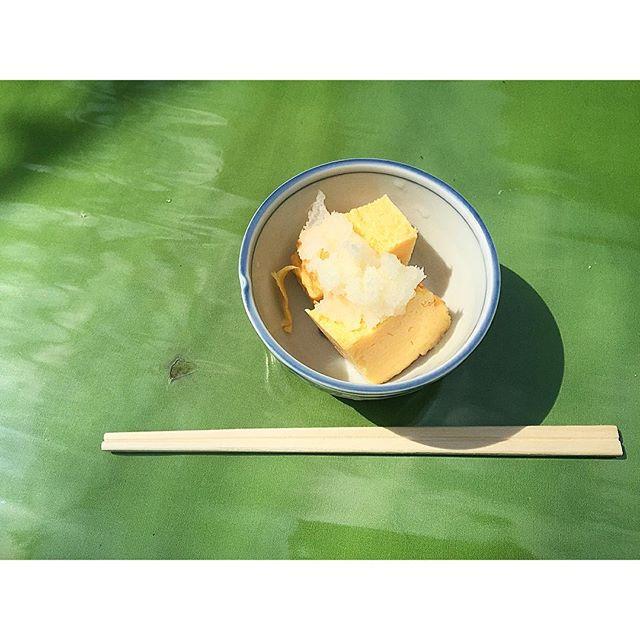 厚焼き玉子。甘くて美味しい。♡...#深水庵#厚焼き玉子