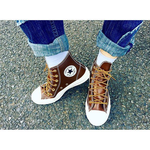 sky blue × brown.socks...@uniqlo shoes...@converse .、、、、、、、、、、、#IZUMIsfashion #converse #uniqlo #shoes #socks #ootd