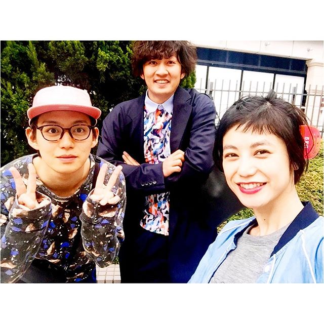 ラブ&ピースで共演した、役者仲間の谷本くん@yukimasatanimoto と、谷本くんの地元の友人福島くんと!...#ラブアンドピース#movie #映画 #園子温