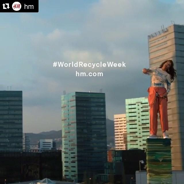今日からSTARTしたH&MのリサイクルWeek!!!🔄🔄🔄ここでも新しいものを作るのに役に立てるなら、積極的に参加したいよね!!またH&Mに洋服を持って行く! @hm #WORLDRECYCLEWEEK #hm #リサイクル