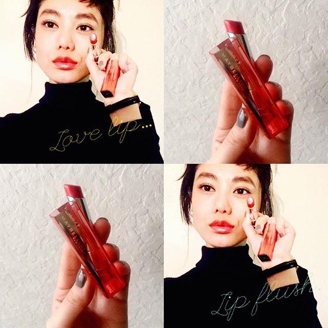 最近Lipはツヤ派♡♡♡、、、#IZMAKE #self#makeup #maybelline