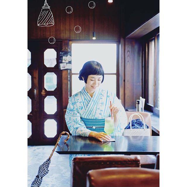 上品な浴衣着て、喫茶店行きたい️️️この浴衣すきだったな。♡@mimatsu.shara.kimono 、、、#summer #japan #mimatsu #浴衣