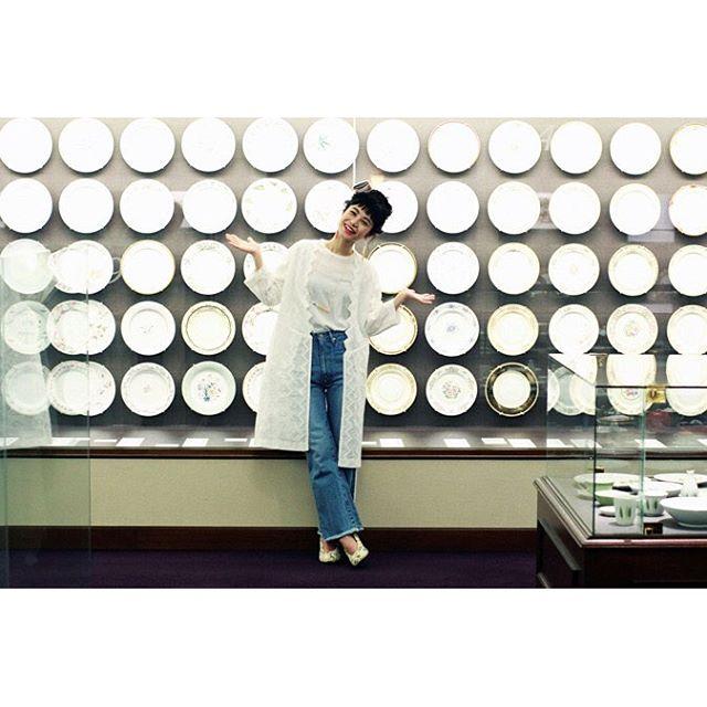 ノリタケの森。高級陶磁器がたくさん展示されていてとってもとっても素敵だった!!、、、@theatre_products #シアタープロダクツの名古屋散歩