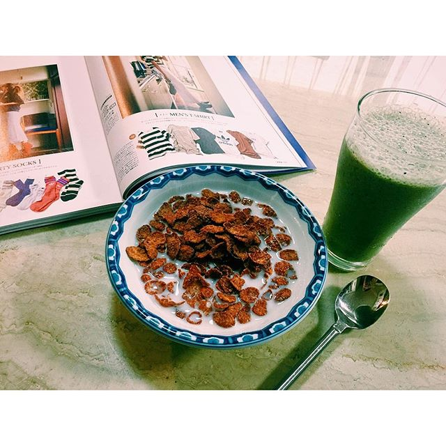 gm.♡#breakfast #smoothie #cereal