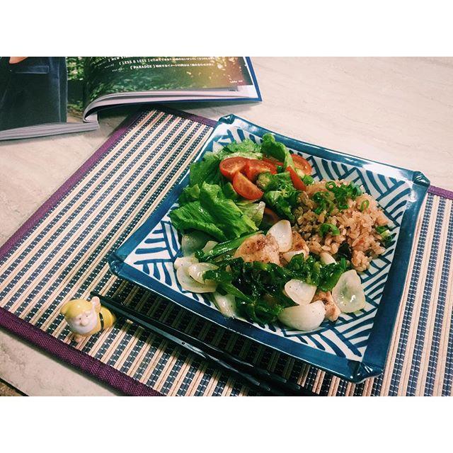 おうちごはん。♡夏バテしないように、夜はお肉を食べてエネルギーを!️#homecooking #dinner