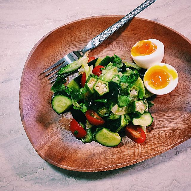 Today's salad.#home #cooking #salad #vegetables