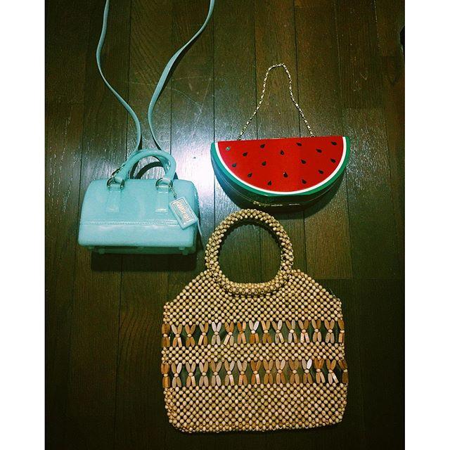 夏のBag達...♡#izumisfashion #bag #summer #furla #watermelon # ♡