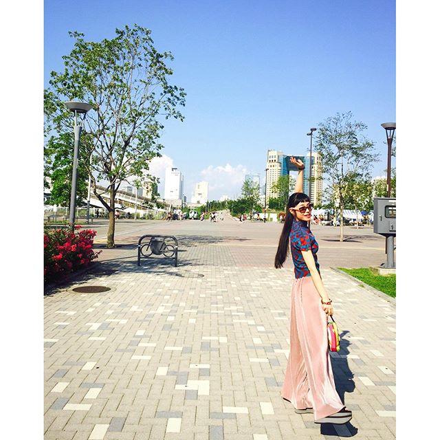 @wear_official 更新🌎#izumisfashion #ootd #outfit #tokyo #odaiba #coordinate #summer #marni #isseymiyake #me #wear
