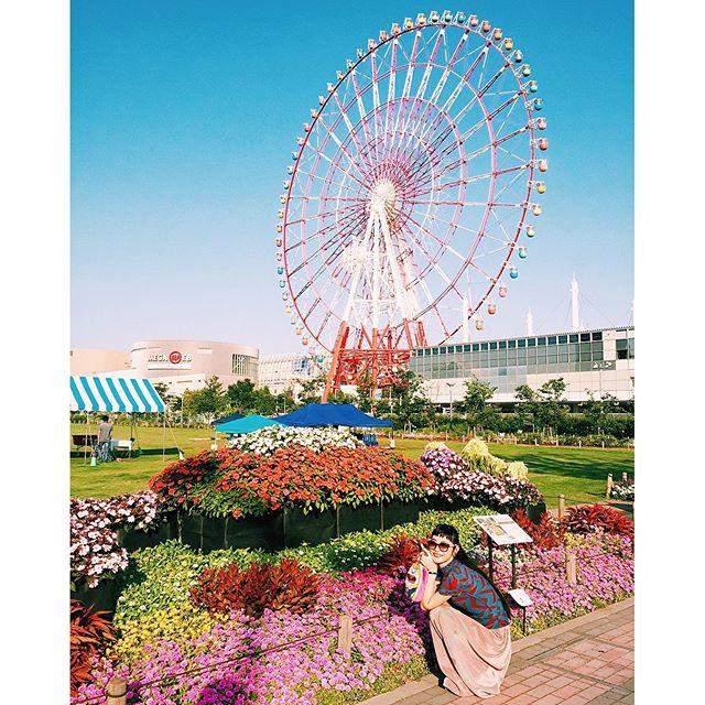 🌲🌎#izumisfashion #tokyo #odaiba #flower #summer