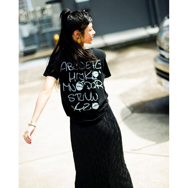 @syte_official #syte #tshirts #black #coordinate#summer #style #skirts #izumi