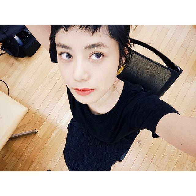 初めましての @akihito_hayami さんのヘアとメイク、とってもツボ!@syte_official #shooting #syte #makeup#lip #shuuemura