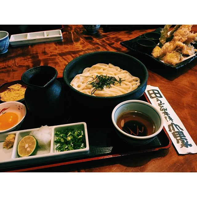 .香川県のうどん、ずっと食べてみたかったのなんだろう、食べて癒されるってこういうことだなぁ。#japan #kagawa #うどん #山田屋 #香川県