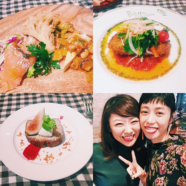 .やっとナナさん @5aito7とlunchできた!んまあ楽しすぎて時間が足りない足りない!お仕事で出逢った人たちとこんなに仲良くなれるって本当にうれしいこと。幸せだなぁ。#lunch #happy #love