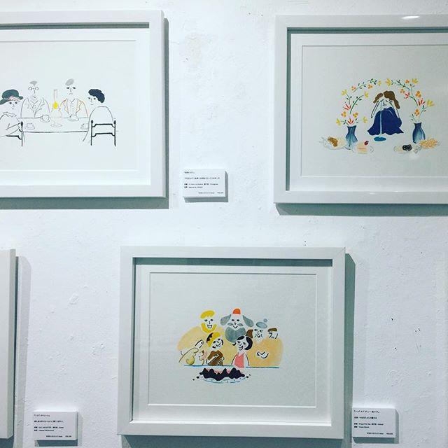 .@kie_pinoko さんのイラストの世界観がとってもすきで、映画を題材に描いていたり、オシャレなイラストが描けるって本当にすごい!!✍🏻#kie #illustrator #designer #イラストレーター #絵 #世界キネマの旅 #表参道 #個展