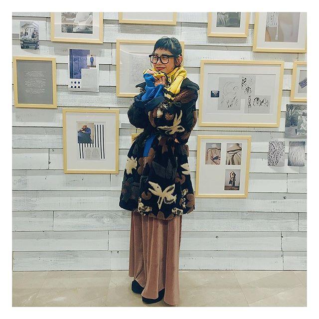 ♡昨日の私服に @burberry のマフラーを巻かせてもらったよ♡#izumisfashion #coordinate #yesterday #ootd #BURBERRY
