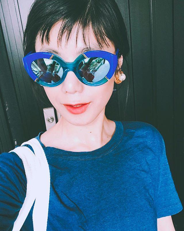 ブルー星人だ暑さを吹き飛ばそう〜#summer #style #ootd