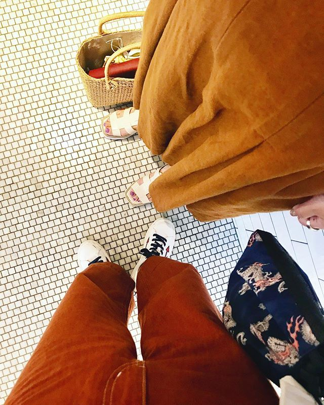 @tomomisato___ さんと、カラーがリンクしてた❣️♡#ootd #brown #color #lunch