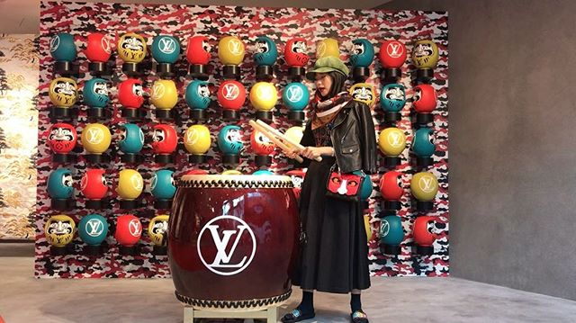 太鼓を叩くとだるまさんが動くのがとっってもたのしかった#lvkabuki