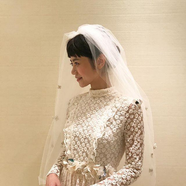 ドレスもヘアメイクも最高すぎました。おたのしみに#wedding #work #shoot