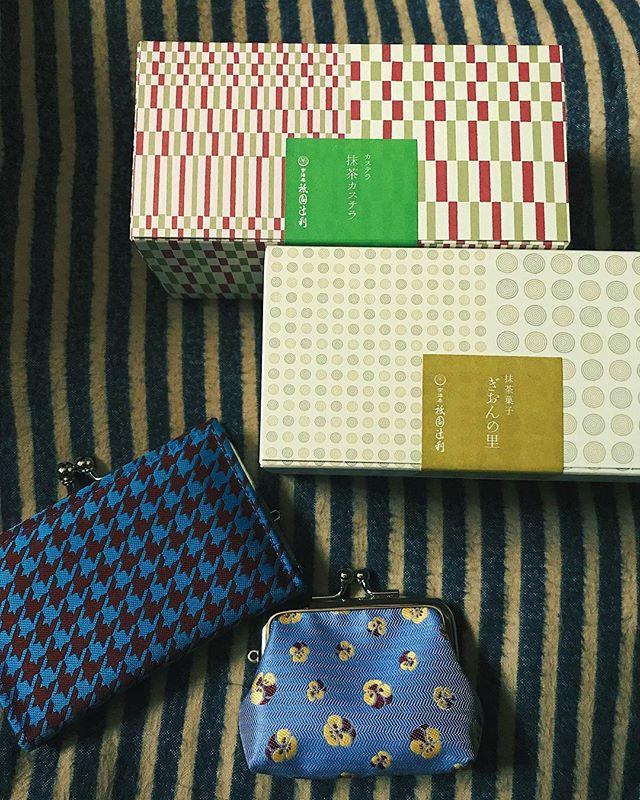 .#kyoto #japan #京都#お土産ってもらうよりあげる方がすき#自分にも買っちゃう#がま口が可愛くて集めてる