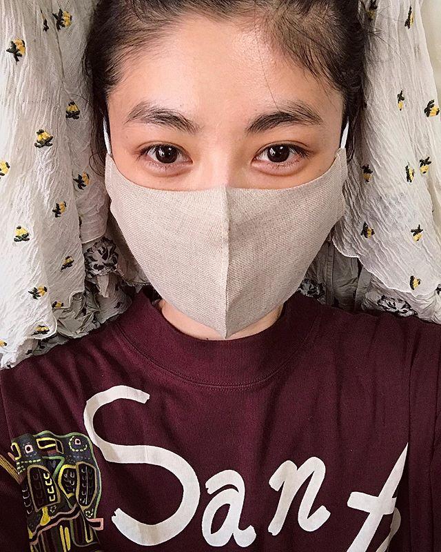 布マスクすき。保湿効果もあるよ◎菌よ!完全ブロック!🏻#mask